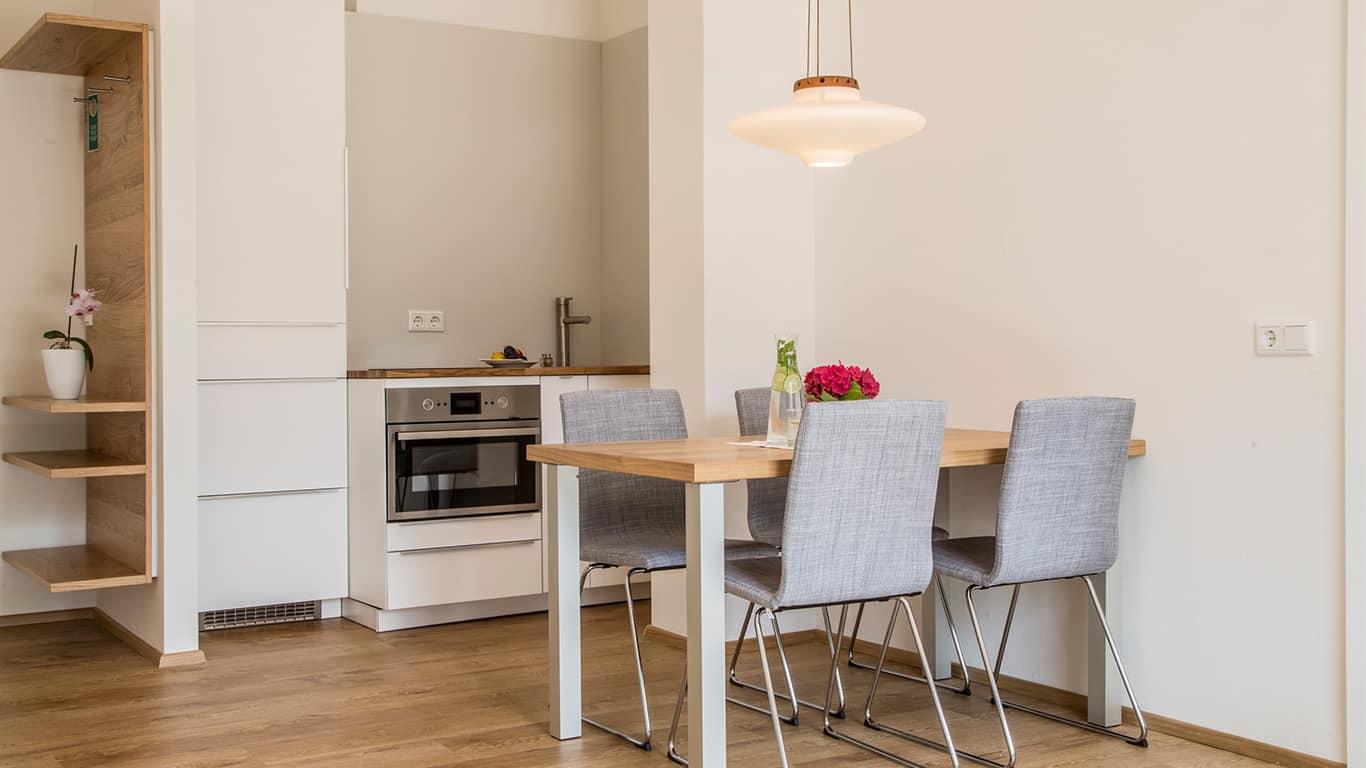 Die Kitchenette in unserem Apartment HV54